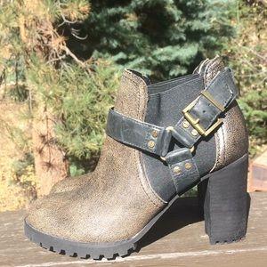 Von Dutch Freerider Buckle Heeled Boots